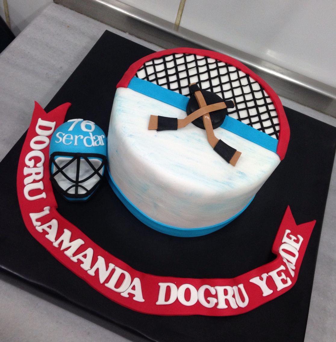 Ce Hockey Birthday Cake Birthday Cakes Pinterest
