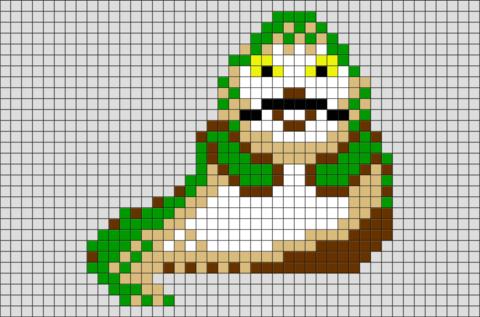 Star Wars Jabba The Hutt Pixel Art Pixel Art Pixel Art