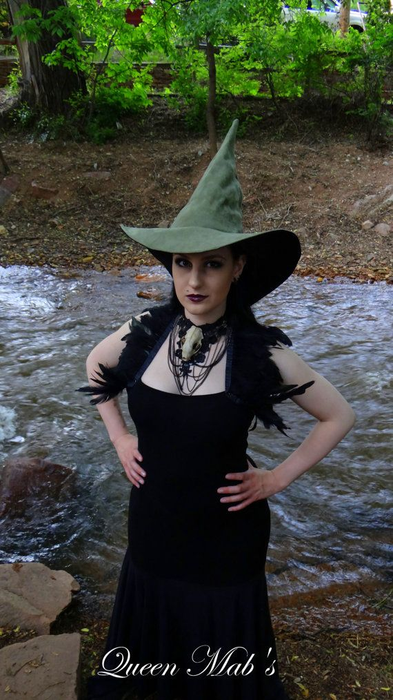 The Sage Witch or Wizard ~ Sage Suede Witch or Wizard Hat VXkA3ZWo4