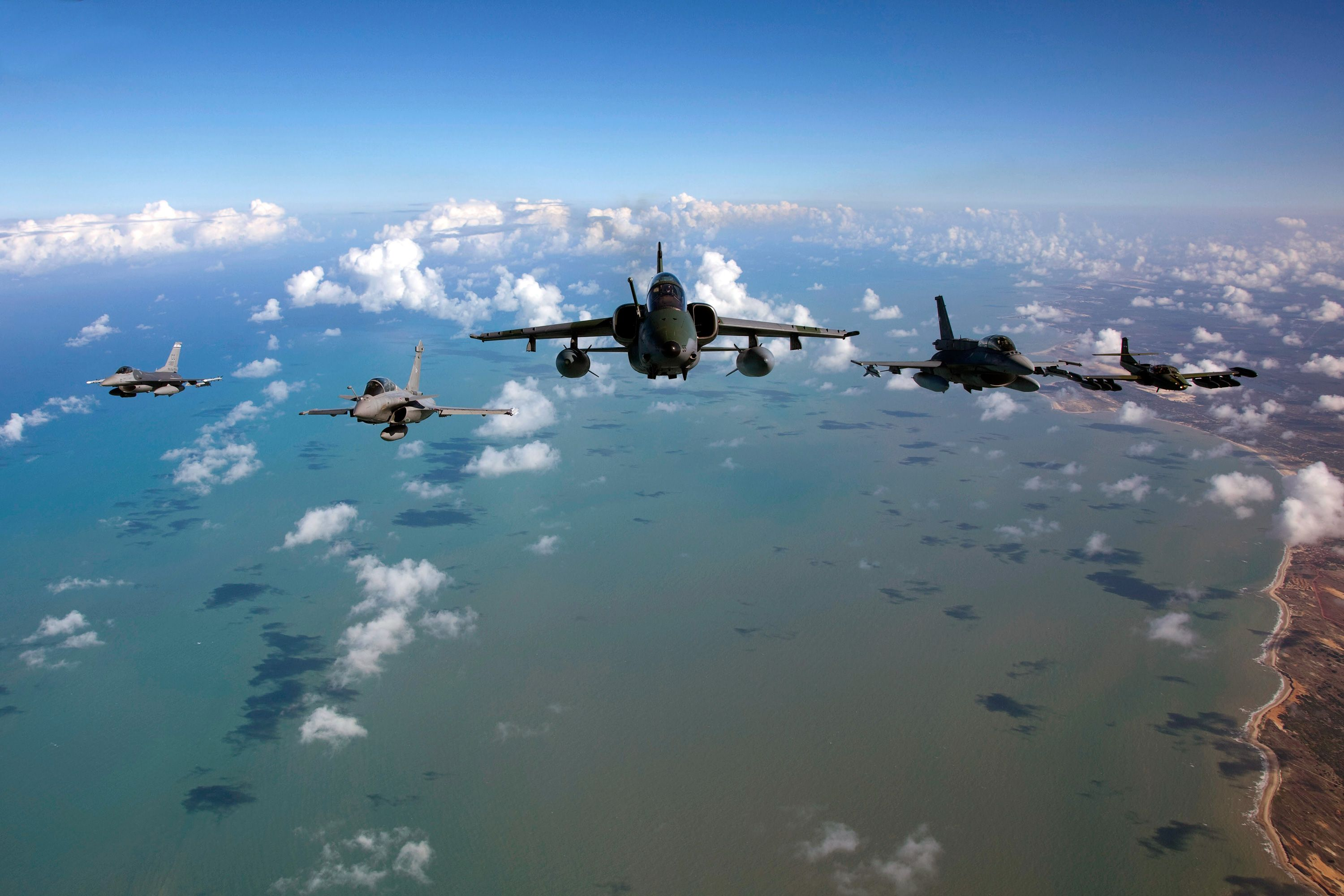 Brazil | participate in the Southern Cross Exercise over the coast of Brazil ...