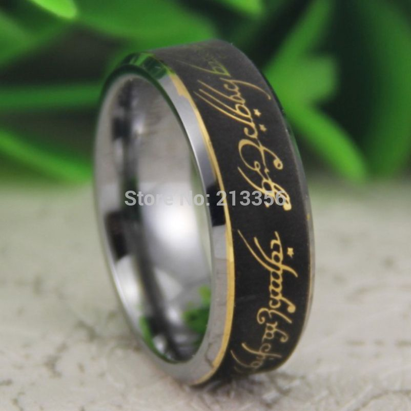 cheap price free shipping usa canada hot selling 8mm bevel the lord one ring the lotr - Who Buys The Wedding Rings