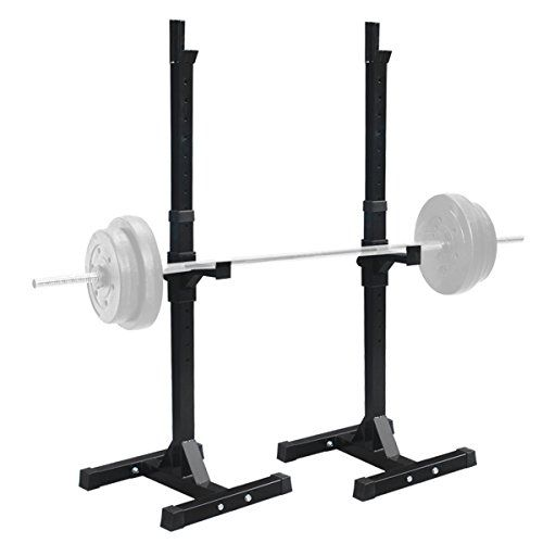 F2c Pair Of Adjustable Rack Sturdy Steel Squat Barbell Free Bench Press Stands Gymhome Gym Portable Dumbbell Racks Stand O Barbell Squat Gym Weights Squat Rack