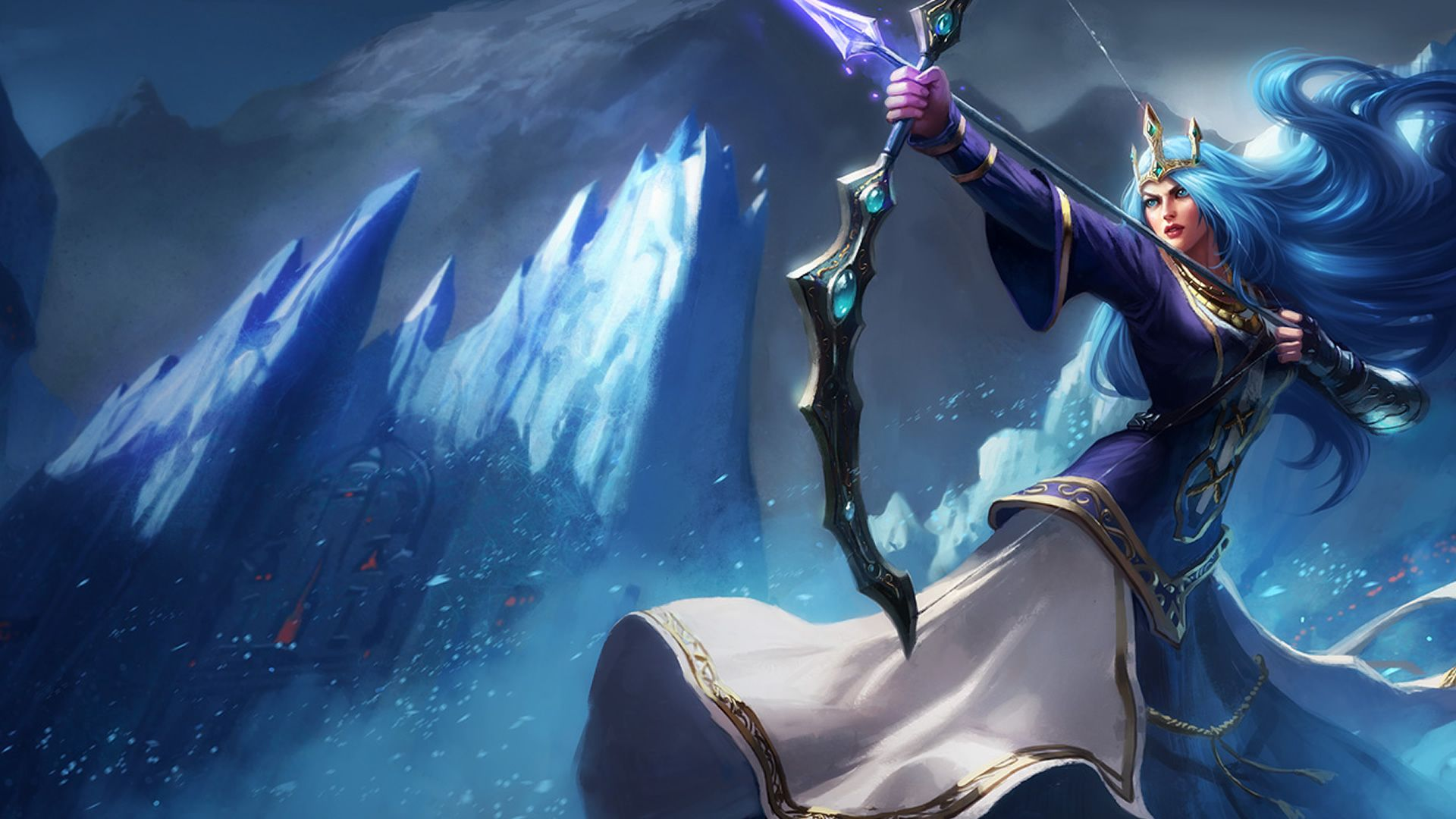 Queen Ashe Wallpaper Lol League Of Legends League Legends
