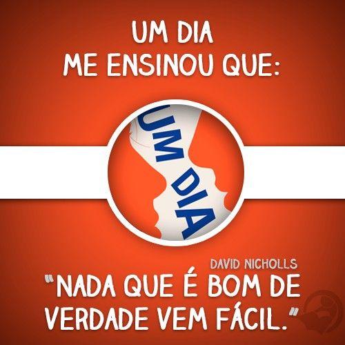 #UmDia #DavidNicholls
