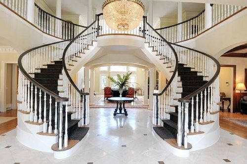 Mansion Plans With Grand Staircases Grand Home Staircase
