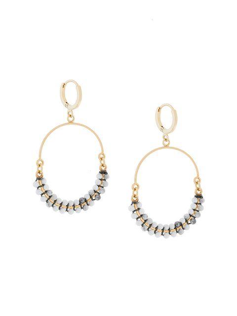 Isabel Marant Beaded Hoop Earrings Isabelmarant