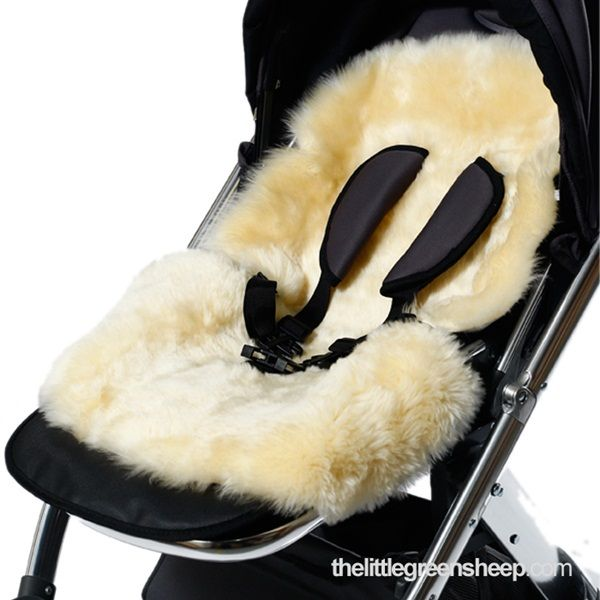 Mamas /& Papas Luxury Sheepskin Pushchair Liner Natural