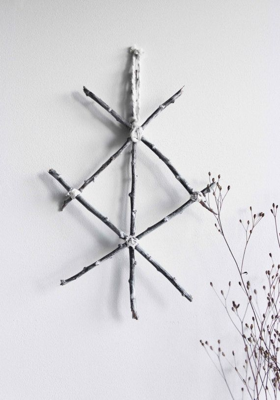 Protection Pagan Viking Wall Hanging Twigs Rune With