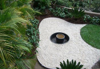 Aluminium Garden Edging Is Commonly Used For Separating Different Coloured  Stones From Each Other, Between
