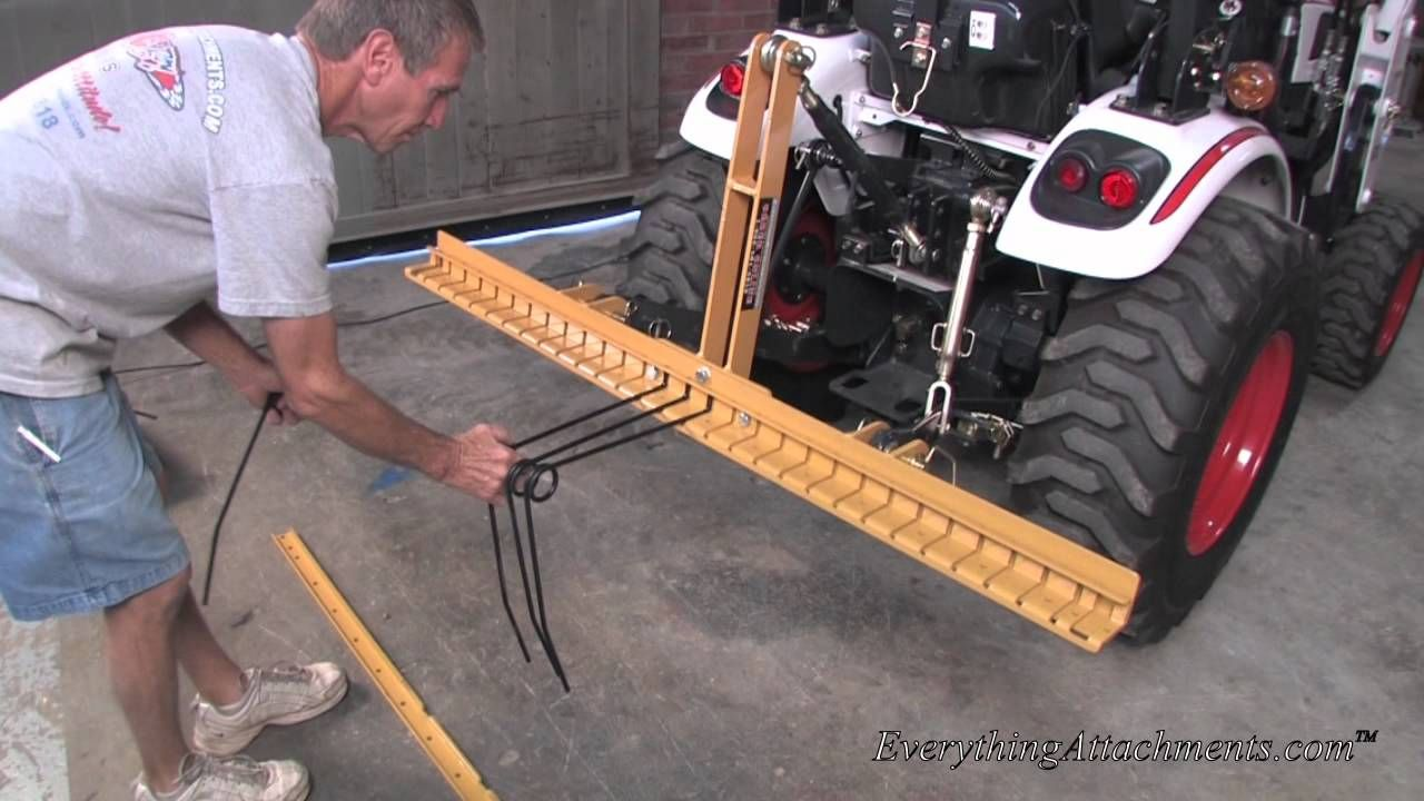 How To Assemble Your Everything Attachments Pine Needle Rake Tractor Attachments Tractor Implements Pine Needles