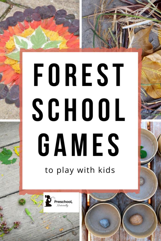 forest school games Nature Preschools & Forest