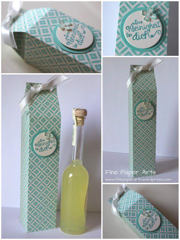 kleine flasche h bsch verpackt kleine flaschen flaschen und h bsch. Black Bedroom Furniture Sets. Home Design Ideas