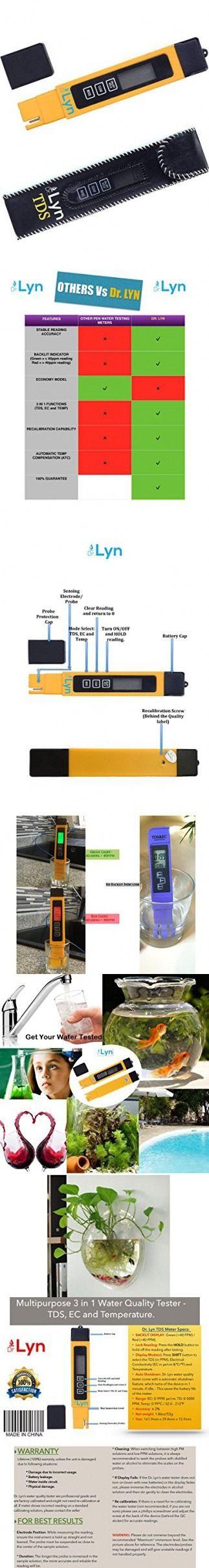 Dr  Lyn Digital 3 in 1 TDS Pen Zero Water Quality PPM Tester Meter