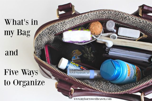 Five Hacks To Keep Everything In Your Purse Organized