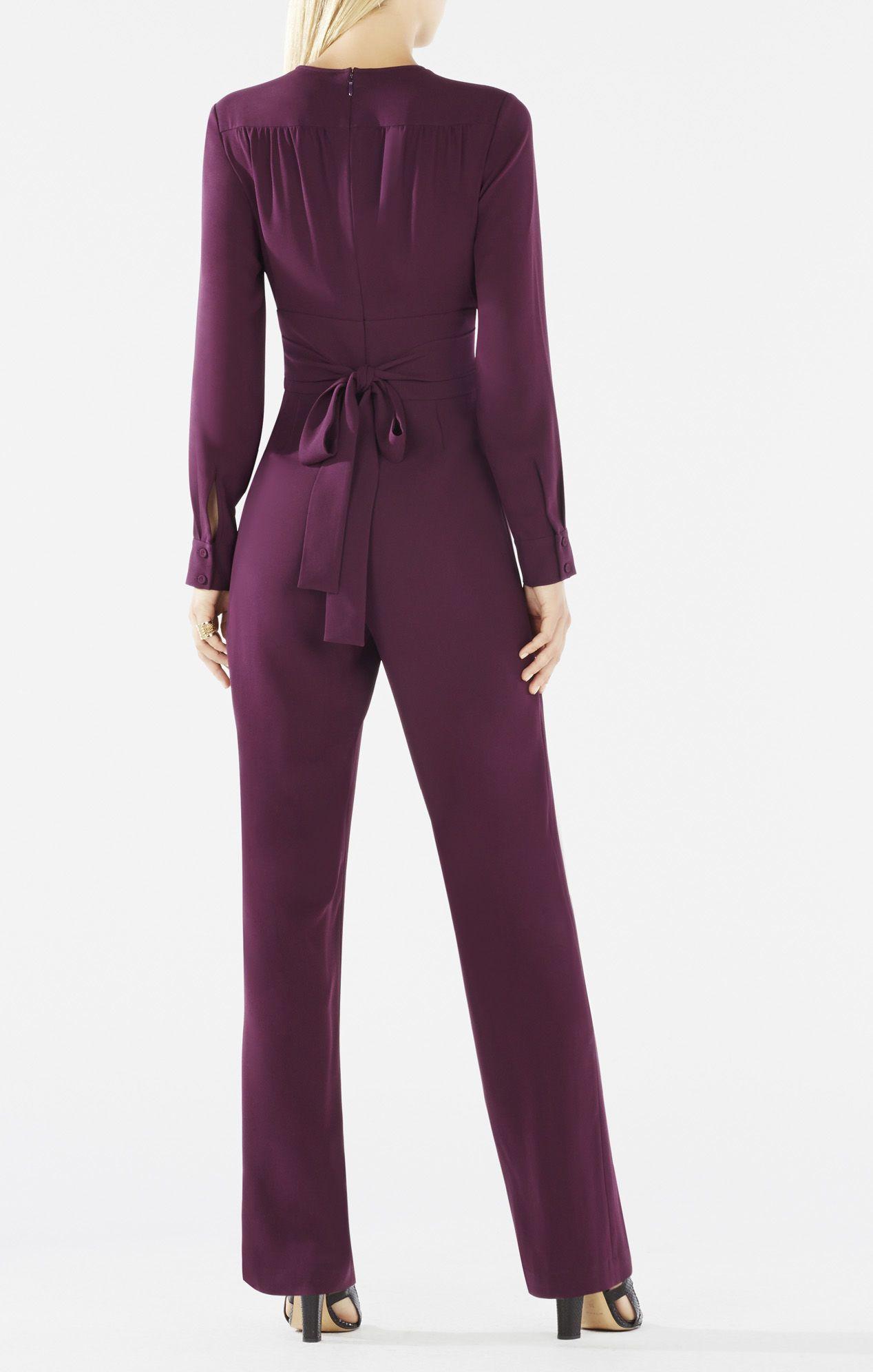 Schyler Long-Sleeve Button-Down Jumpsuit   Jumpsuit   Pinterest ...