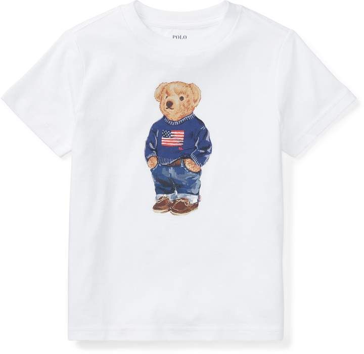 4646b76d Ralph Lauren Polo Bear Cotton T-Shirt | Products in 2019 | Polo ...