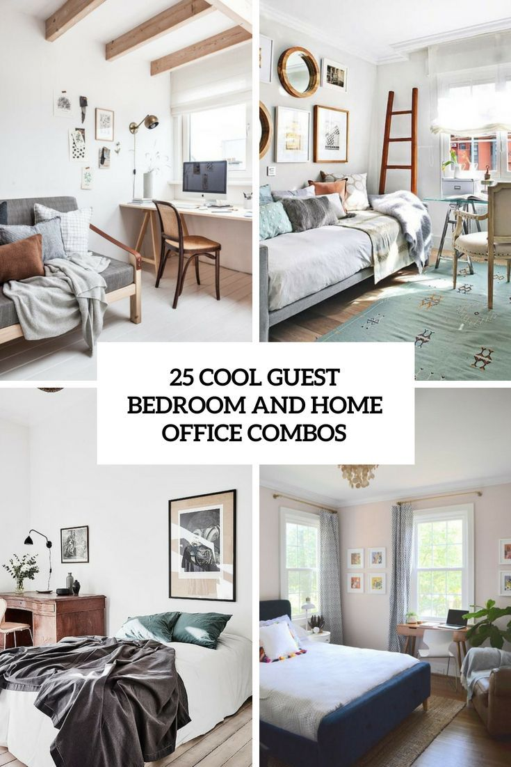 25 Cool Guest Bedroom And Home Office Combos images