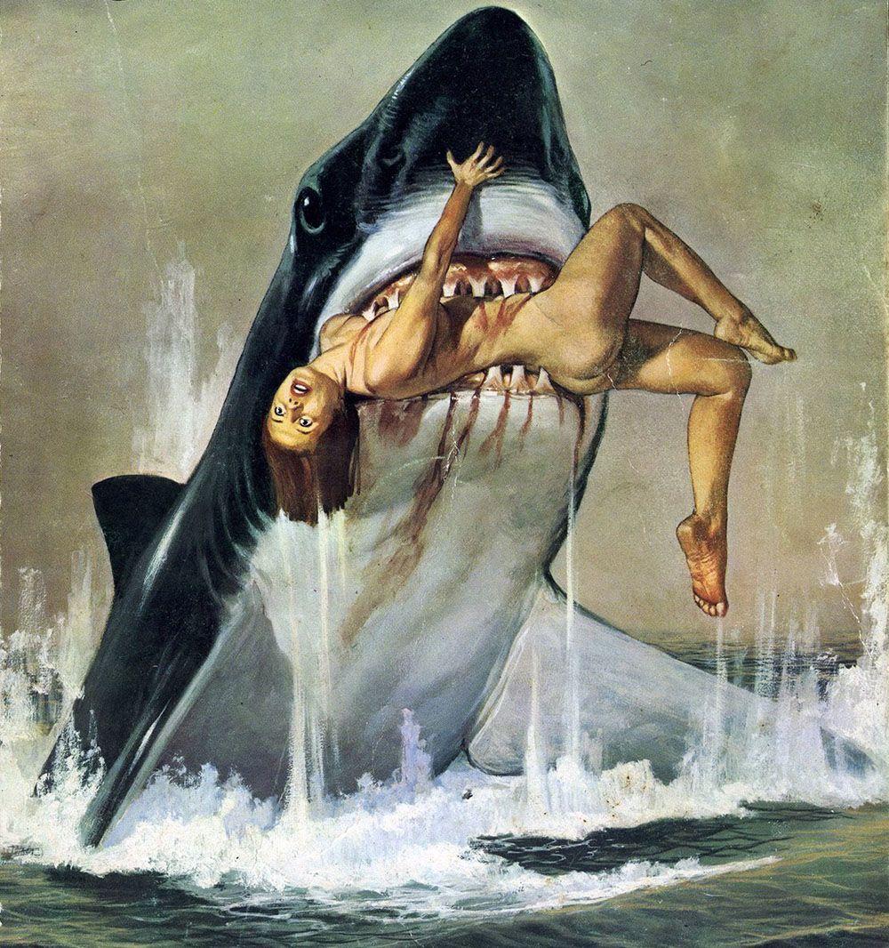 Design muse shark week - Jaws Art Pinup Style Shark Week Sharks Movies Movie Film Artwork Pinups