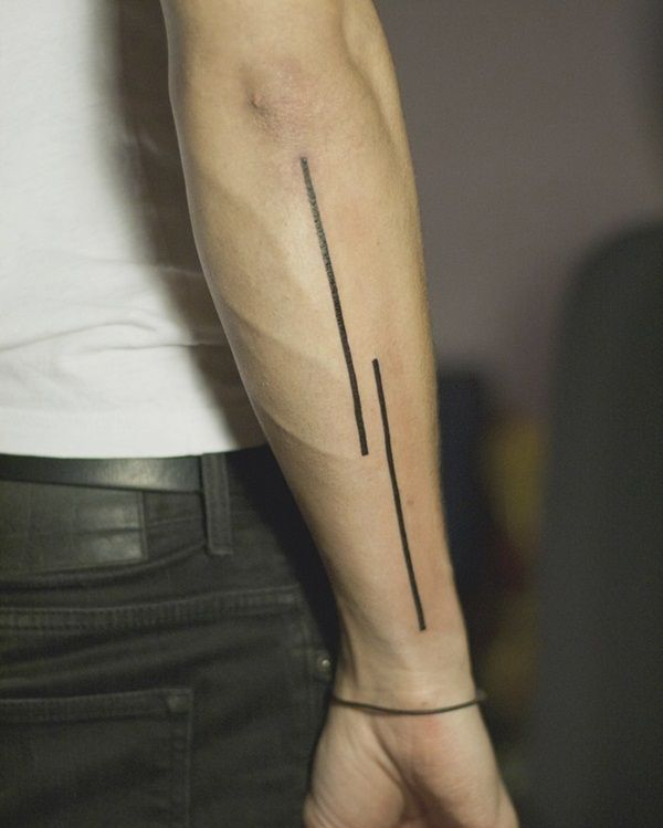 80 Line Tattoos To Wear Symbolically Simple Arm Tattoos Line Tattoos Tattoos For Guys
