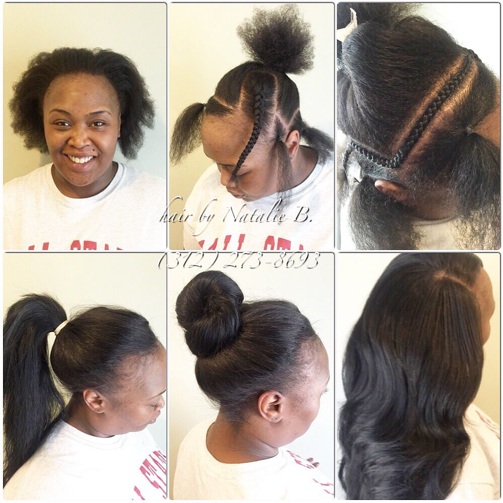 Want To Wear Your Sew In In A High Bun Or Ponytail No Problem