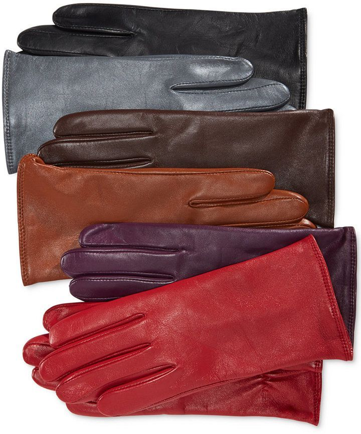 Charter Club Cashmere Lined Leather Tech Gloves Only At Macy S