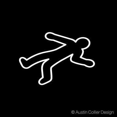 DEAD BODY OUTLINE Vinyl Decal Sticker