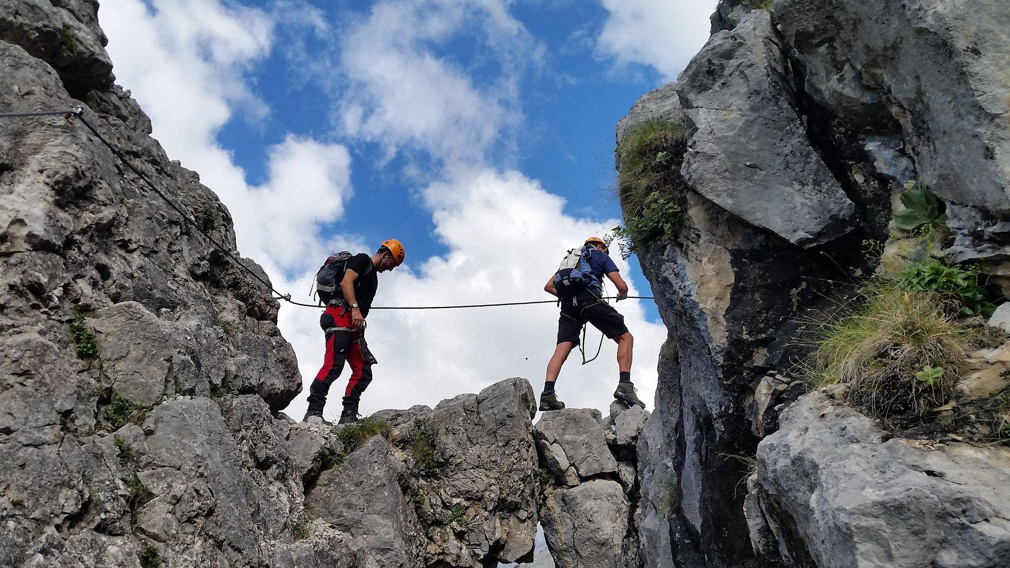 Bergtour Bettelwurf Berg, Karwendel und Klettersteig