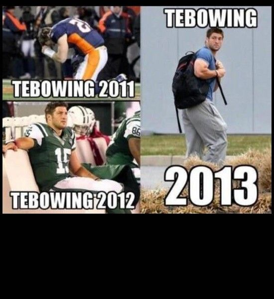 Tebowing through the years.