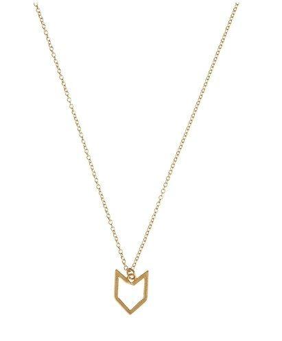 Love this little chevron necklace!