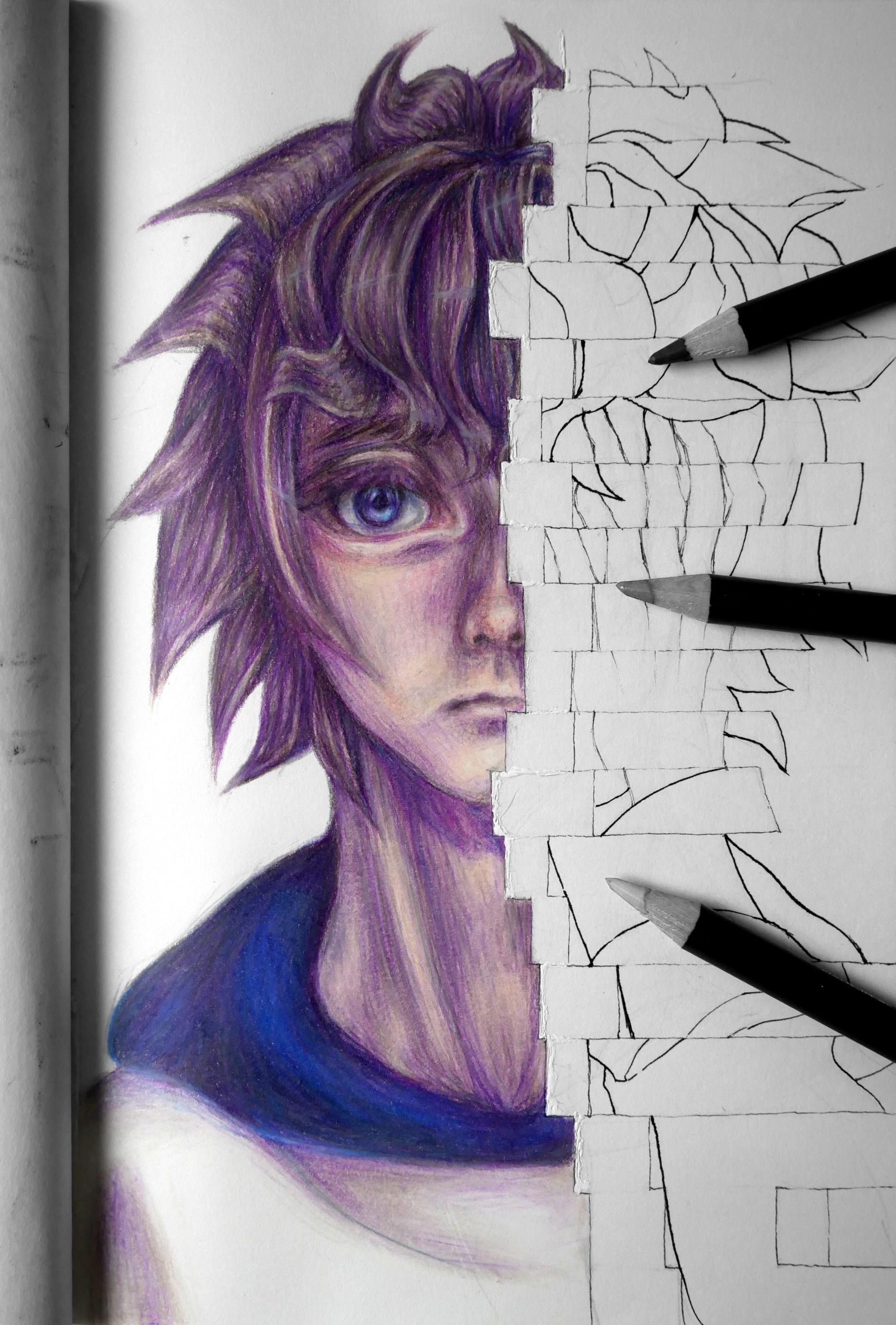 Manga Boy Colored Pencils Drawing Color Pencil Drawing Coloured Pencils Colored Pencils