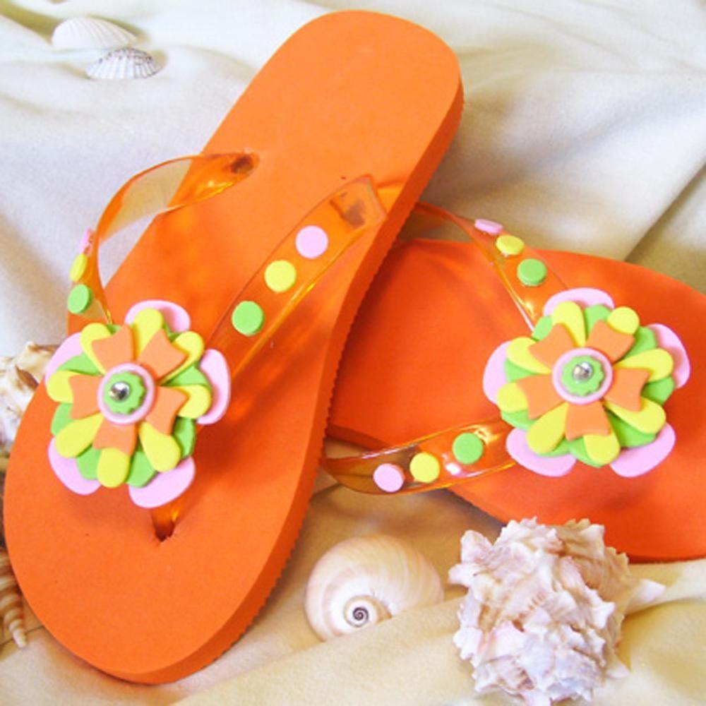 Flip flop craft, Diy flip flops