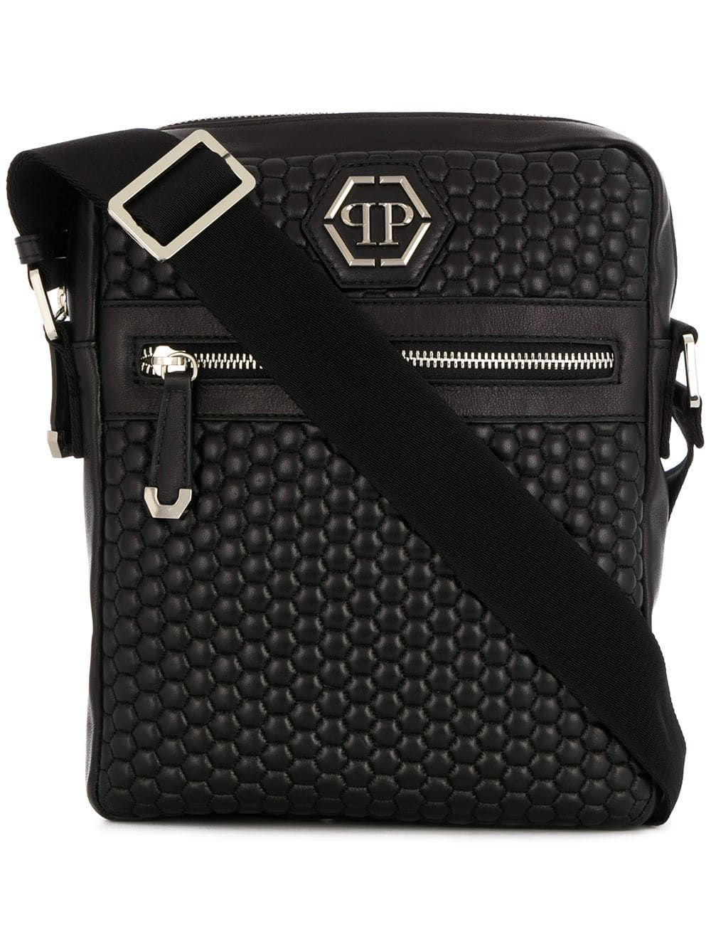 8a79341fa6fb PHILIPP PLEIN PHILIPP PLEIN QUILTED MESSENGER BAG - BLACK.  philippplein   bags  shoulder bags  leather  lining