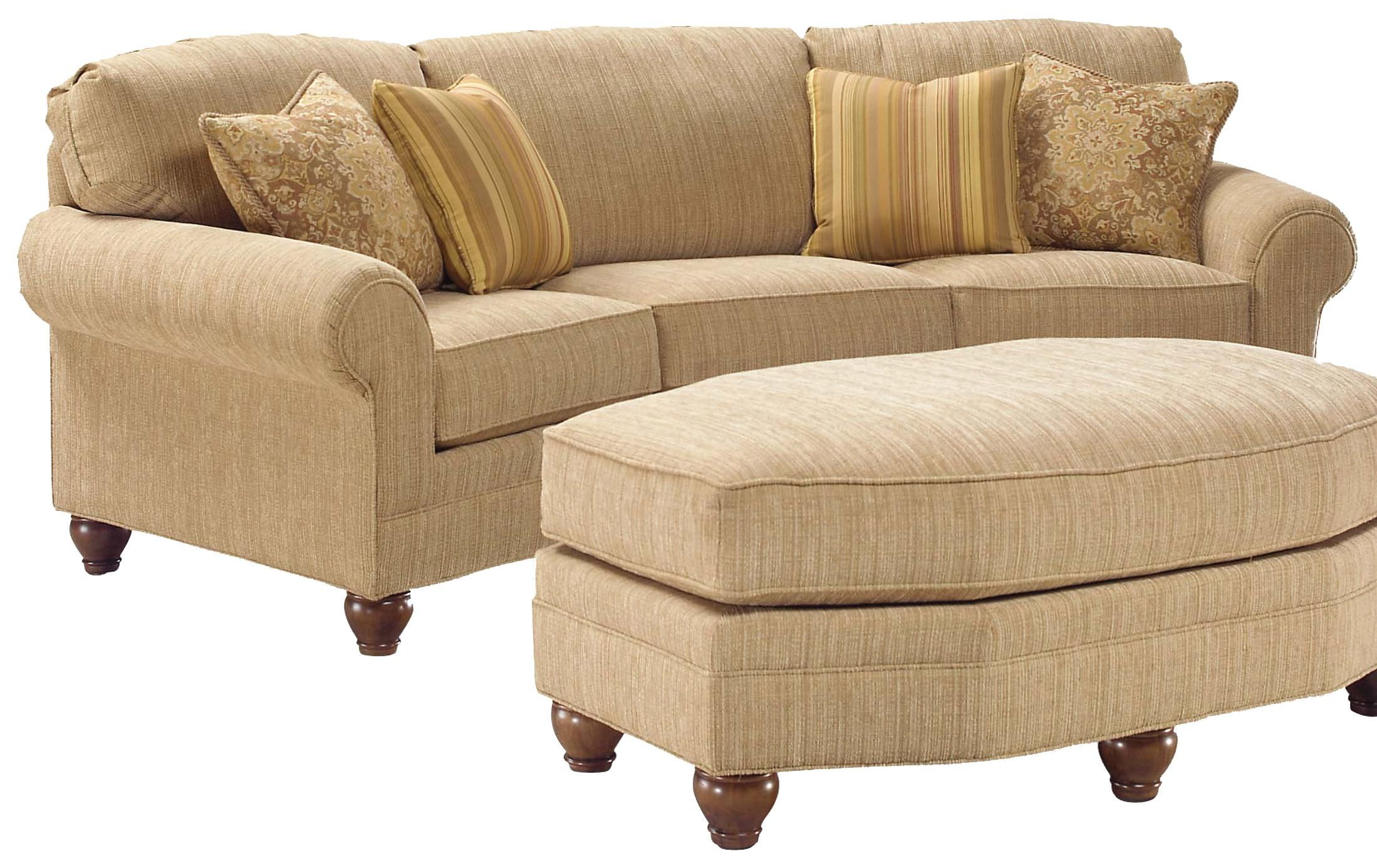 3768 Curved Sofa By Fairfield With