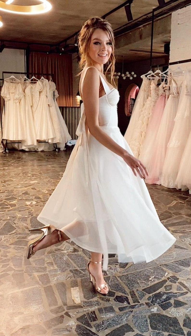 Amazing A Line Silk Midi Reception Wedding Dress Coco By Ange Etoiles Midi Wedding Dress Wedding Reception Dress Online Wedding Dress [ 1396 x 794 Pixel ]