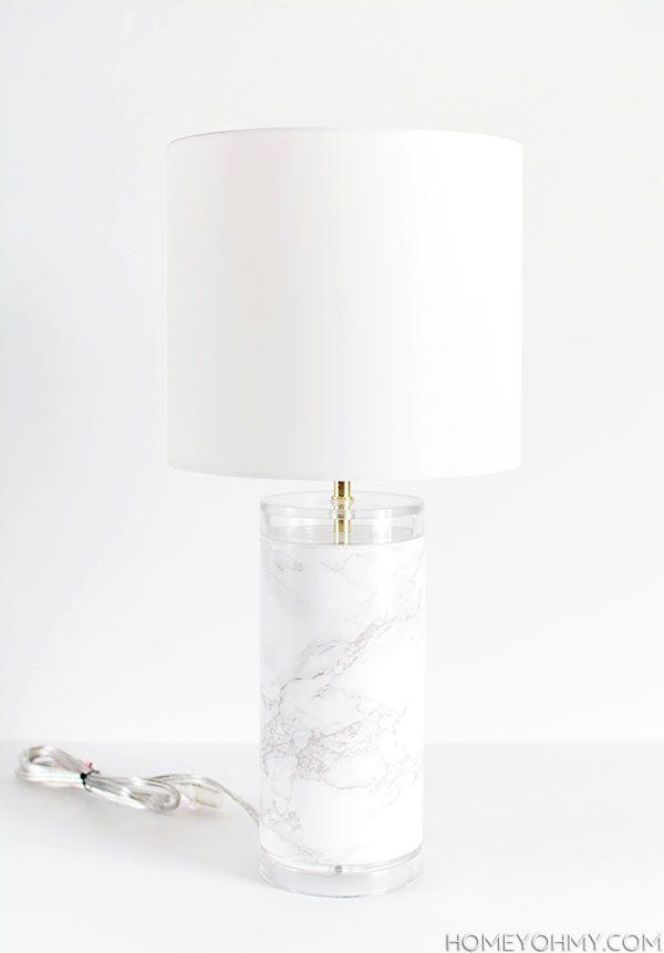 DIY Faux Marble Lamp