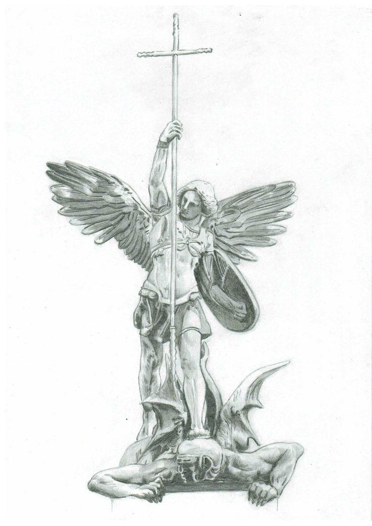 St Raphael Tattoo : raphael, tattoo, Archangel, Gabriel,, Michael,, Raphael,, Uriel,, Metatron, Michael, Tattoo,, Statue, Tattoo