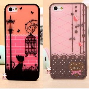NEW Fashion Birdcage Heart Shaped Hard Back Cover Case FOR Iphone 5 Nice  4cf1665454b