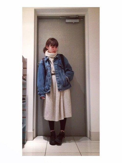 高橋愛さんのワンピース「mother FRANZ BIG DRESS」を使ったコーディネート