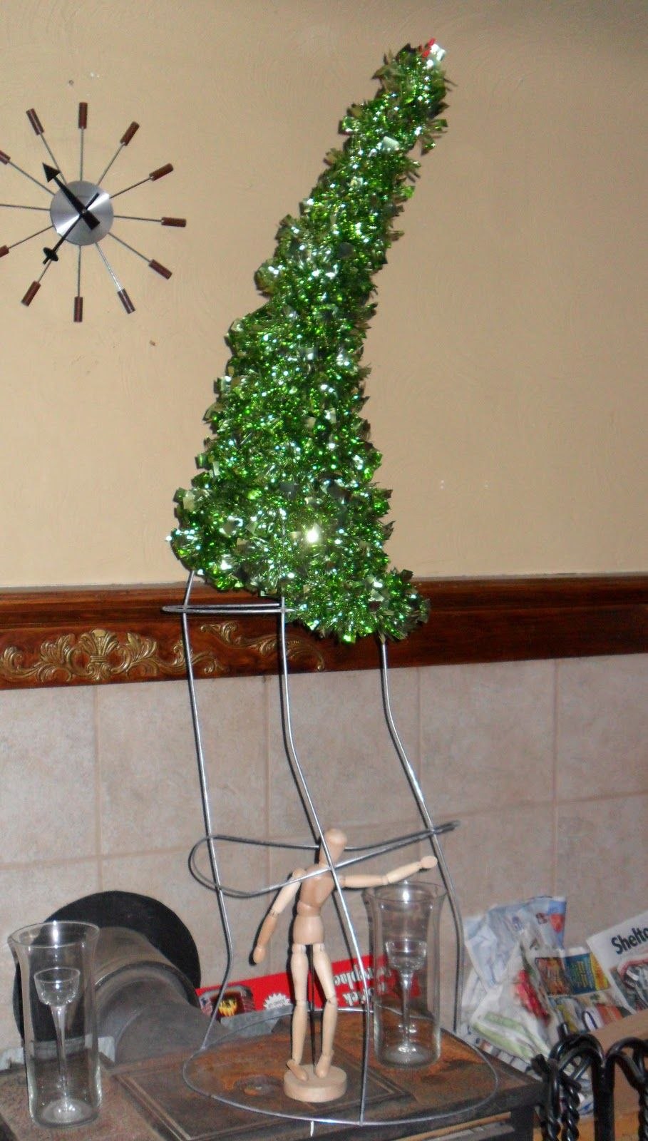 Wait...What?!? How does tomato cages go with Christmas? It's simple my dear, Christmas time is ...