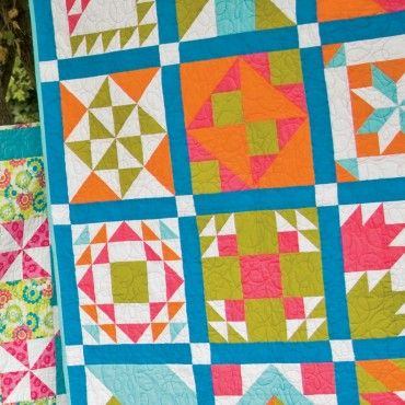 Bright Sampler Quilt Die List & Fabric Requirements Overview (PDF Download) - Free Quilt Patterns - Patterns