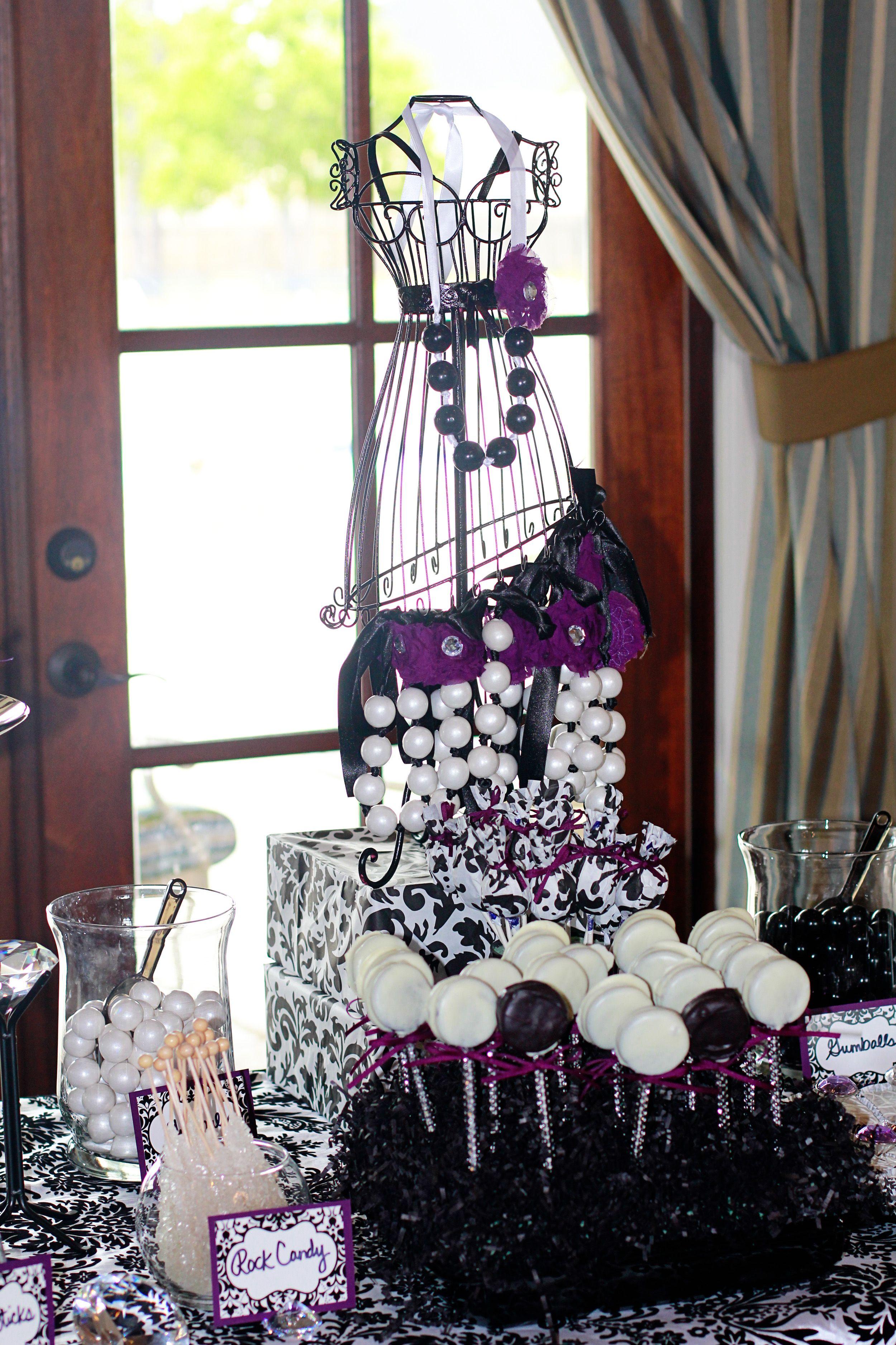 Black and white wedding decor ideas  Oreo pops Black and white candy buffet  Wedding Ideas  Pinterest