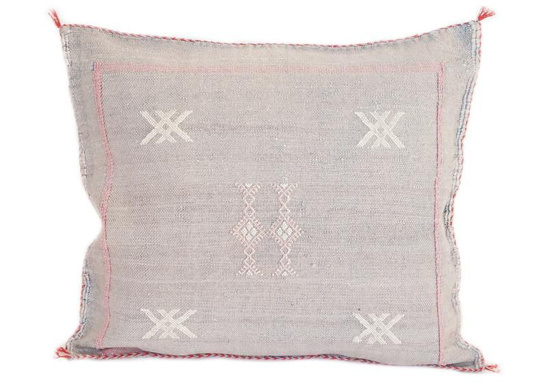 Cactus Silk Pillow, Sabra Silk Pillow, Moroccan Throw Pillow, Boho Pillow, Boho Cushion, Decorative cushion, Berber Pillow Cover