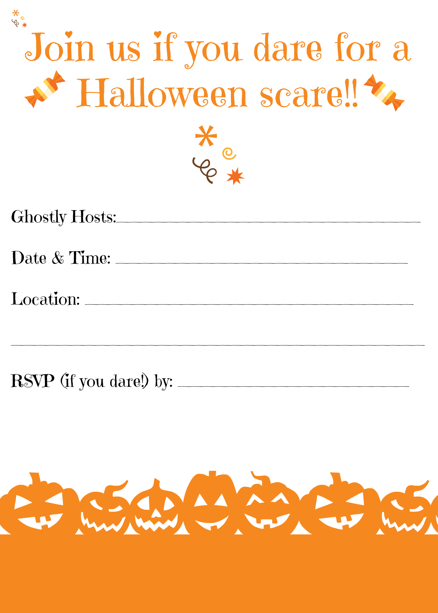 free printable halloween invitations for your super spooktacular