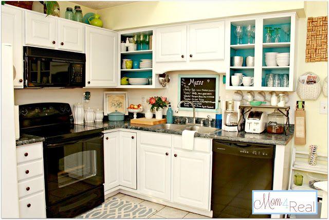 10 Fun Ways To Spruce Up Your Kitchen Open Kitchen Cabinets Kitchen Design Kitchen Countertops