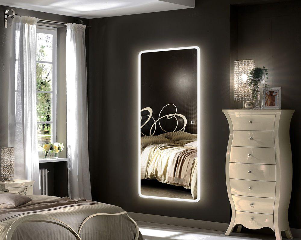 Hans Alice Led Backlit Mirror Illuminated Full Length Wall Mount Dressing Mirror Ebay Mirror Wall Bedroom Full Length Mirror In Bedroom Bedroom Mirror