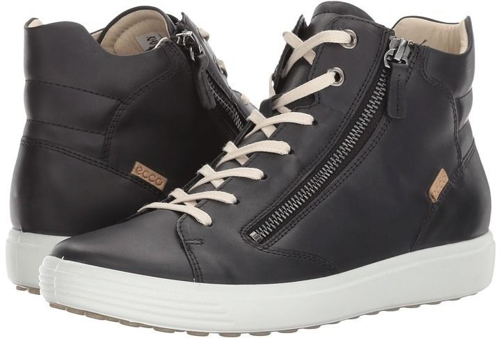 d5aa423d8e0 Ecco Soft 7 Zip High Top Women s Lace up casual Shoes