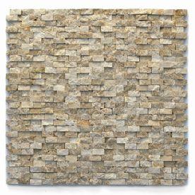 Solistone 10 Pack Modern Dada Split Face Natural Stone Mosaic