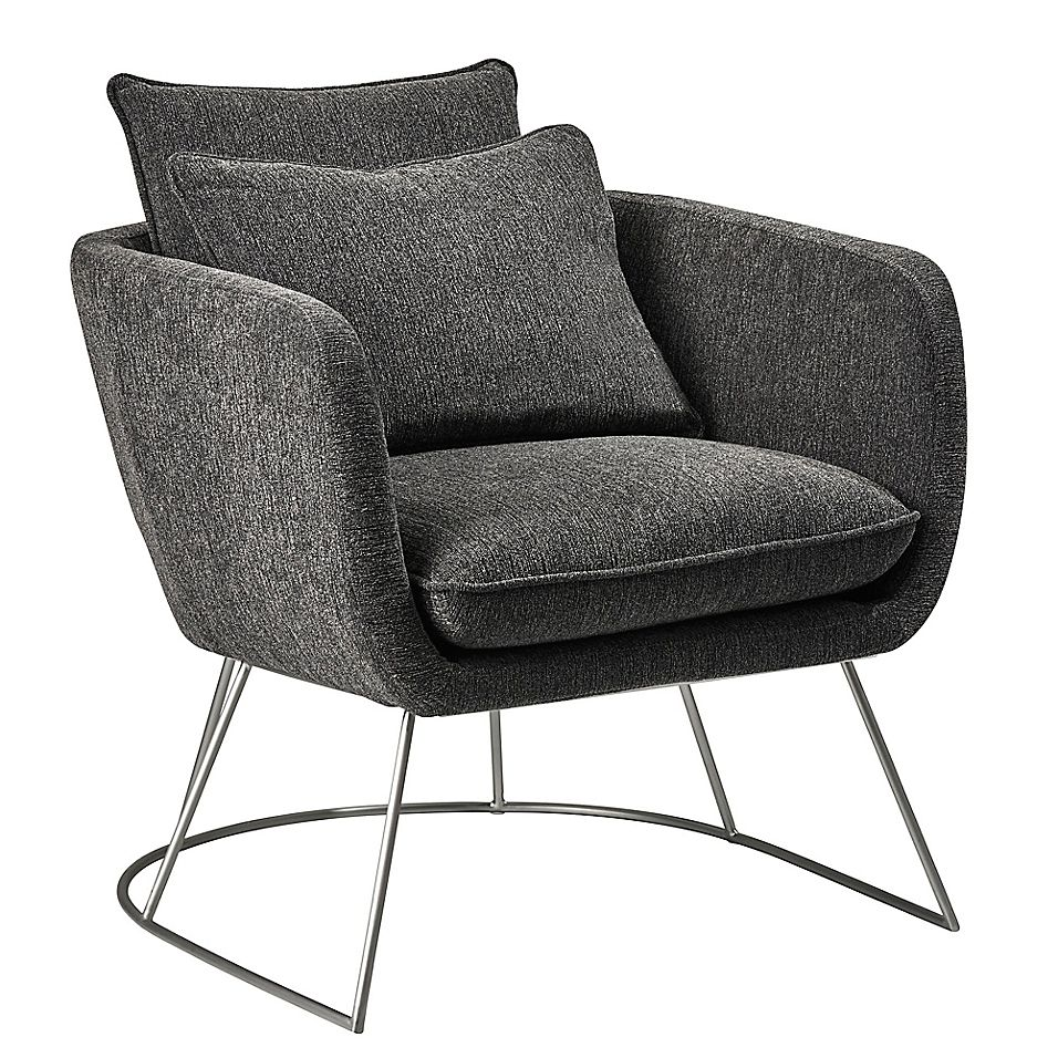Adesso, Inc.® Upholstered Chair in Dark Grey Upholstered