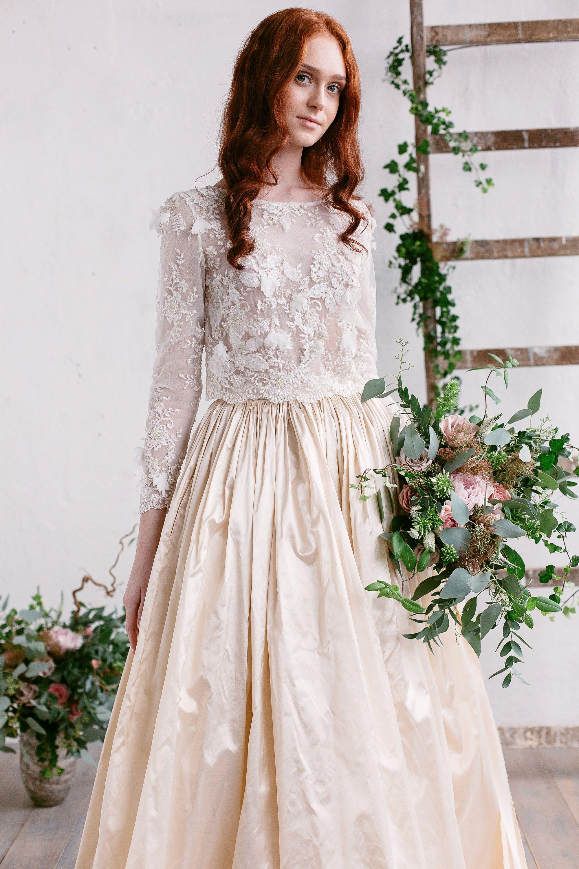 Lace wedding top camila 3d bridal lace top wedding