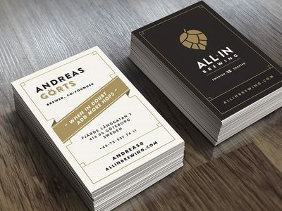 All In Brewing Business Card Ideny